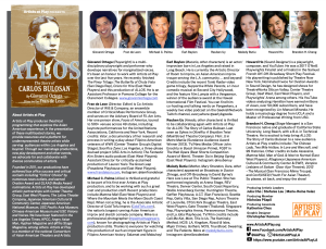screenshot of full 1-page program with information about ALLOS and bios of the artists.