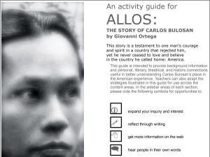 Screenshot of the first page of the ALLOS Activity Guide.